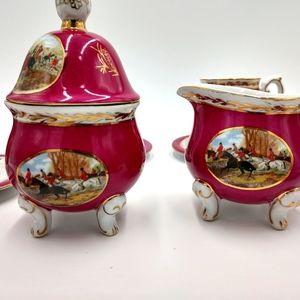 Limoges Style Hunting Tea Set
